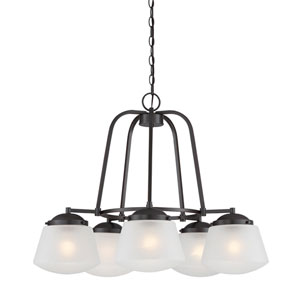 Mason Satin Bronze Five-Light Chandelier