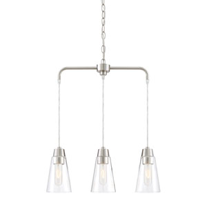 Echo Satin Platinum Three-Light Chandelier