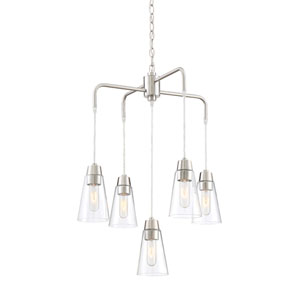Echo Satin Platinum Five-Light Chandelier