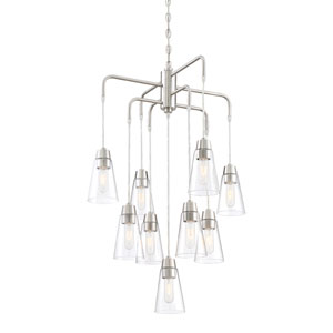 Echo Satin Platinum Nine-Light Chandelier