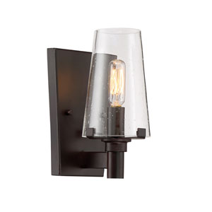 Hyde Park Vintage Bronze One-Light Bath Sconce