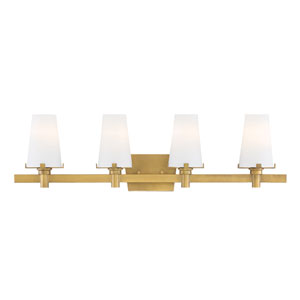 Hyde Park Vintage Gold Four-Light Vanity