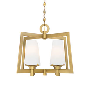 Hyde Park Vintage Gold Four-Light Chandelier