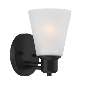 Printers Row Oil Rubbed Bronze One-Light Bath Sconce
