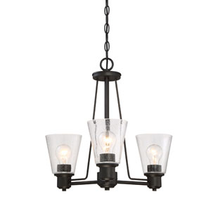Printers Row Oil Rubbed Bronze Three-Light Chandelier