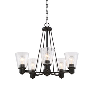Printers Row Oil Rubbed Bronze Five-Light Chandelier