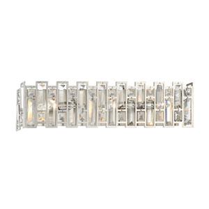 West 65th Satin Platinum Three-Light Vanity