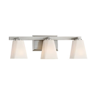 Cornerstone Satin Platinum Three-Light Vanity