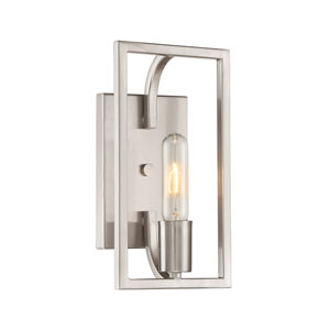 Uptown Satin Platinum One-Light Bath Sconce