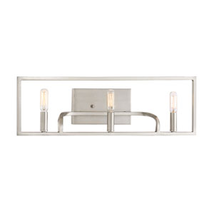 Uptown Satin Platinum Three-Light Vanity
