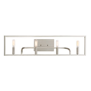 Uptown Satin Platinum Four-Light Vanity