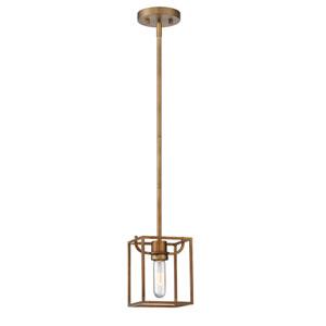 Uptown Old Satin Brass One-Light Mini Pendant