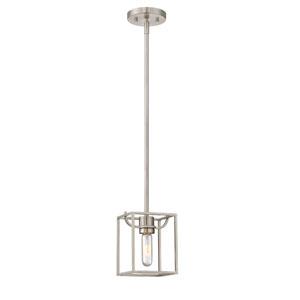 Uptown Satin Platinum One-Light Mini Pendant