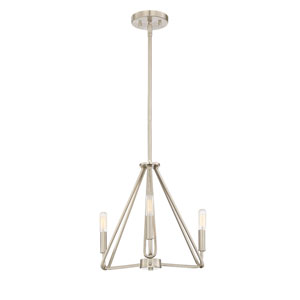Uptown Satin Platinum Four-Light 16-Inch Chandelier