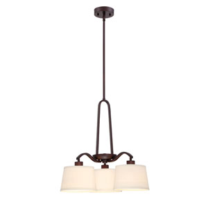 Studio Satin Bronze Three-Light Chandelier