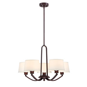 Studio Satin Bronze Five-Light Chandelier