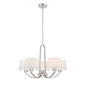 Studio Satin Platinum Five-Light Chandelier