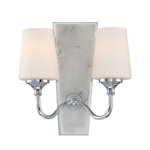 Lusso Chrome Two-Light Wall Sconce
