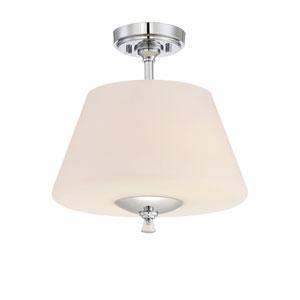 Lusso Chrome Two-Light Semi-Flush Mount