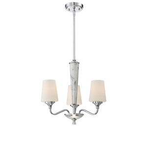 Lusso Chrome Three-Light Chandelier