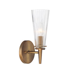 Montelena Old Satin Brass One-Light Wall Sconce