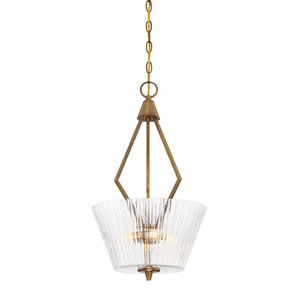 Montelena Old Satin Brass Three-Light Pendant