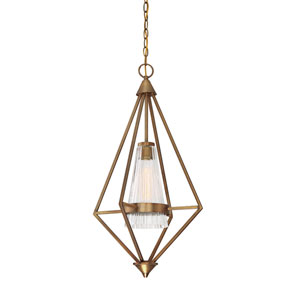 Montelena Old Satin Brass One-Light Pendant