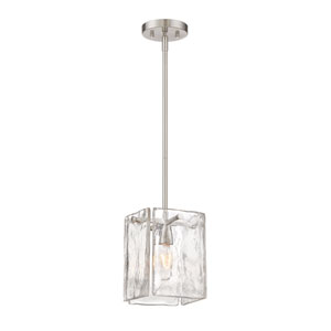Madison Square Satin Platinum One-Light Mini Pendant