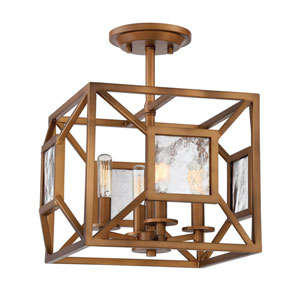 Athina Gilded Bronze Four-Light Semi-Flush Mount