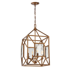 Athina Gilded Bronze Four-Light 16-Inch Chandelier