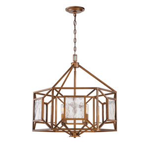 Athina Gilded Bronze Four-Light 25-Inch Chandelier