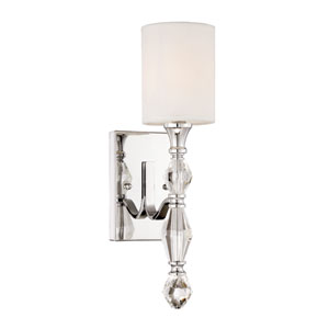 Evi Chrome One-Light Wall Sconce
