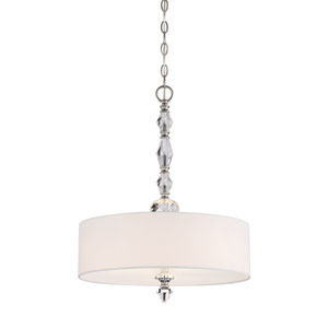 Evi Chrome Three-Light Pendant