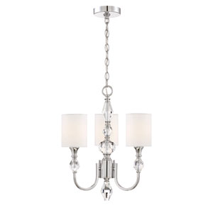 Evi Chrome Three-Light Chandelier