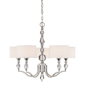 Evi Chrome Five-Light Chandelier