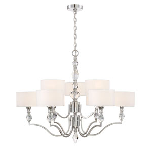 Evi Chrome Nine-Light Chandelier