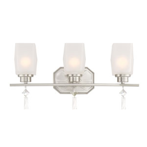 Brentwood Satin Platinum Three-Light Bath Light