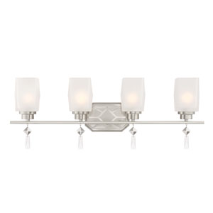 Brentwood Satin Platinum Four-Light Bath Light