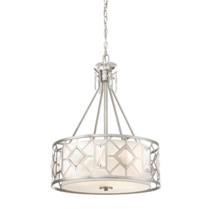 Brentwood Satin Platinum Three-Light Pendant