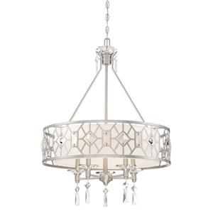 Brentwood Satin Platinum Five-Light Pendant