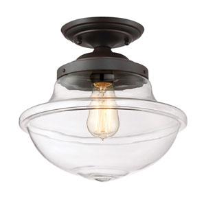 Foundry Satin Bronze One-Light Semi-Flush