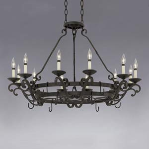 Messina Natural Iron Twelve-Light Chandelier
