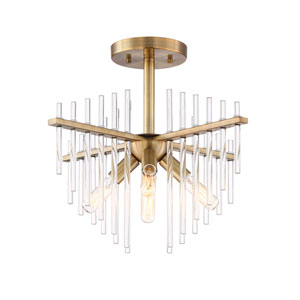 Reeve Burnished Antique Brass Four-Light Semi-Flush