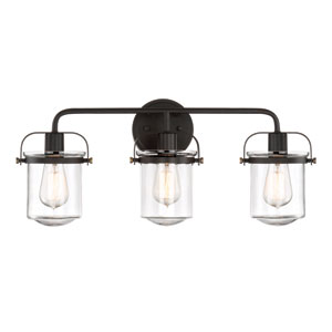 Jaxon Oil Rubbed Bronze Three-Light Bath Light