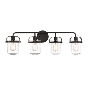 Jaxon Oil Rubbed Bronze Four-Light Bath Light