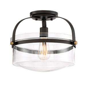 Jaxon Oil Rubbed Bronze One-Light Semi-Flush