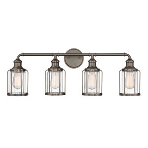 Anson Satin Copper Bronze Four-Light Bath Light