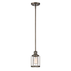 Anson Satin Copper Bronze One-Light Mini Pendant