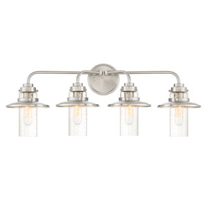 Dover Satin Platinum Four-Light Bath Light