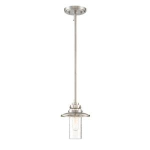 Dover Satin Platinum 11-Inch One-Light Mini Pendant